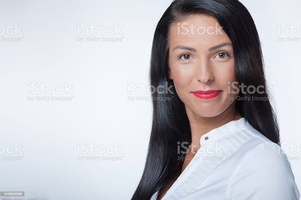 self-confident manager stock photo