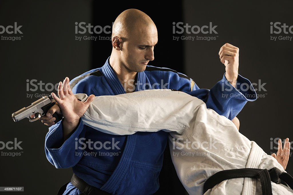 Self-defense. royalty-free stock photo