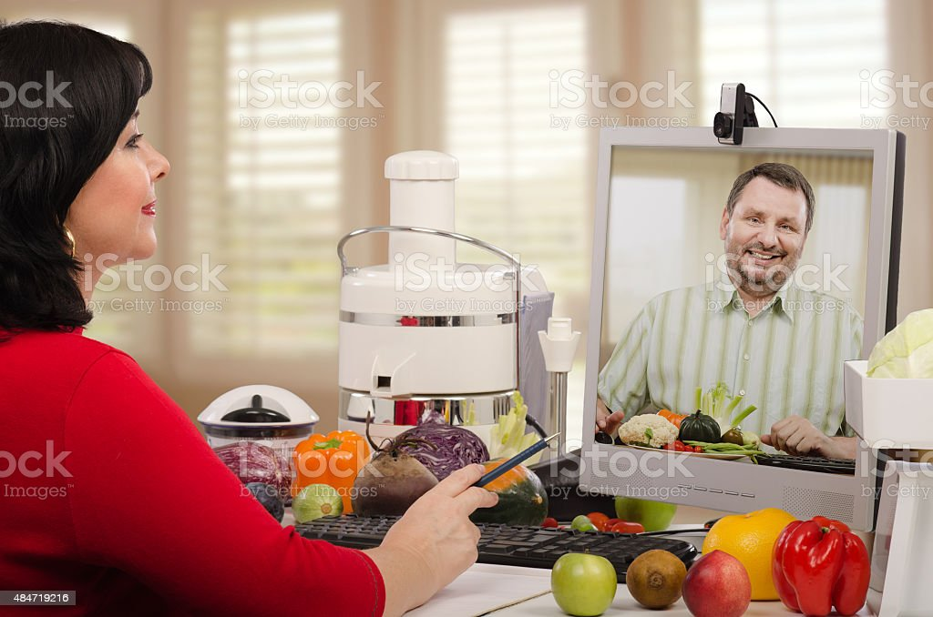 Self-employed nutrition consultant stock photo
