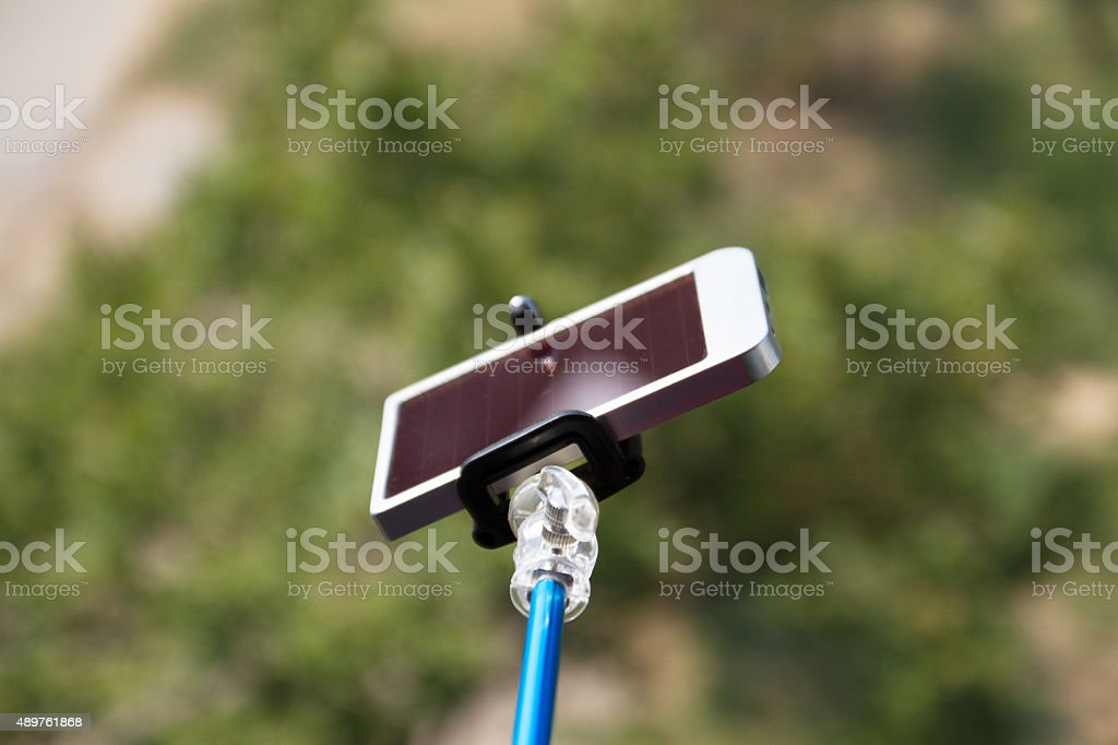 Selfie - charger stock photo