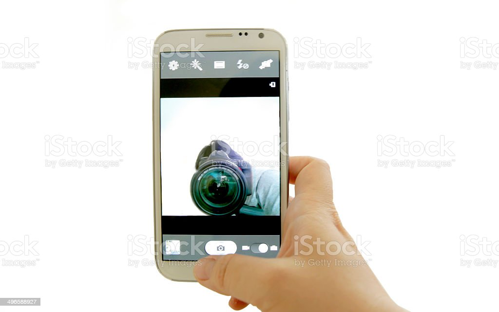 selfie concept stock photo