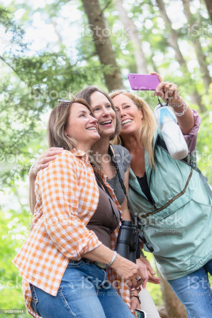 Selfie Friends stock photo