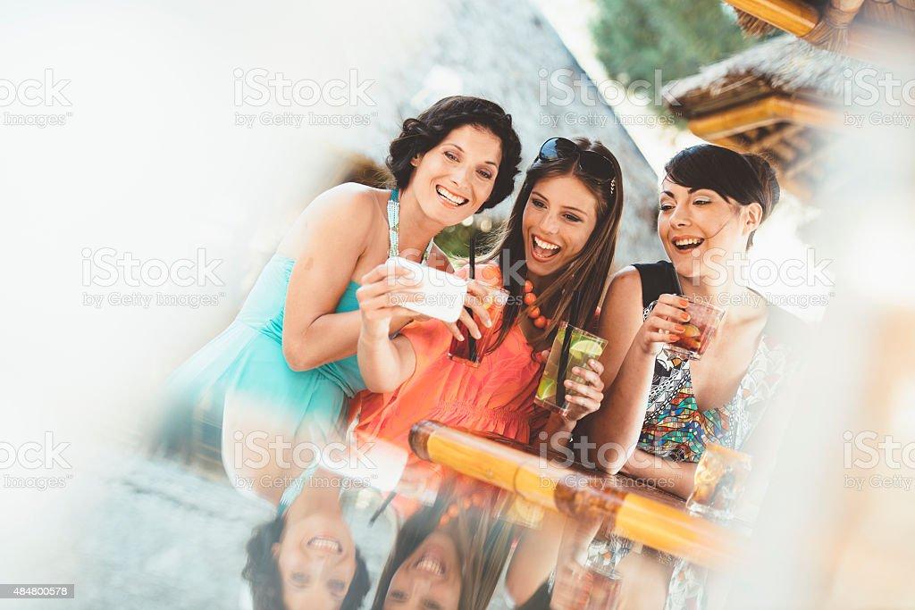 Selfie in a Bar stock photo