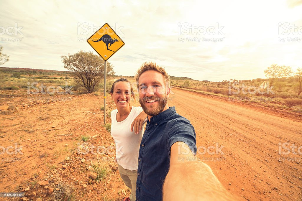 Selfie in Australia stock photo