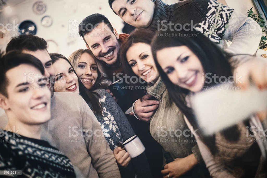 Selfie moment. stock photo