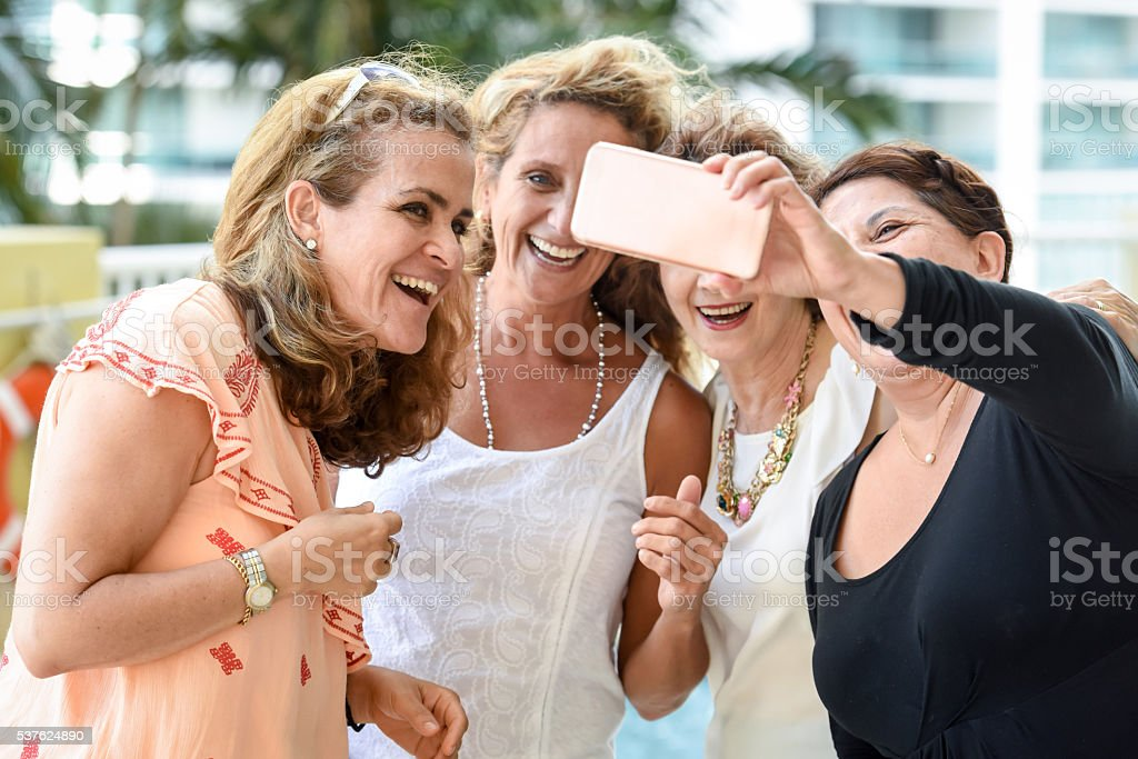 Selfie stock photo