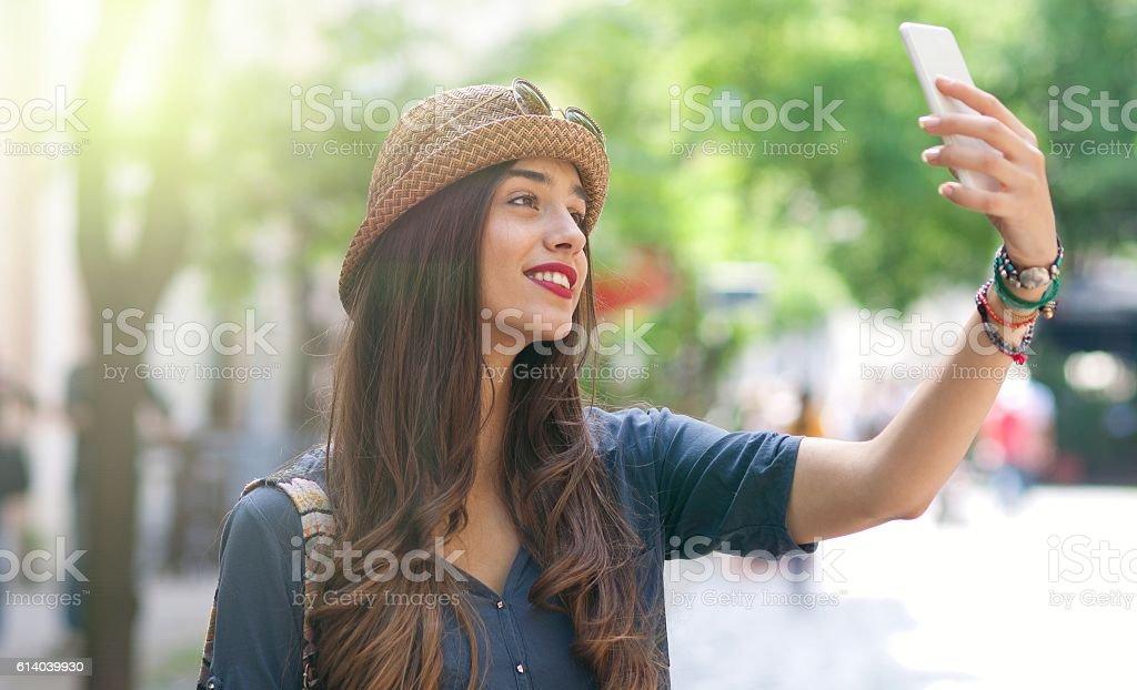 Selfie. stock photo