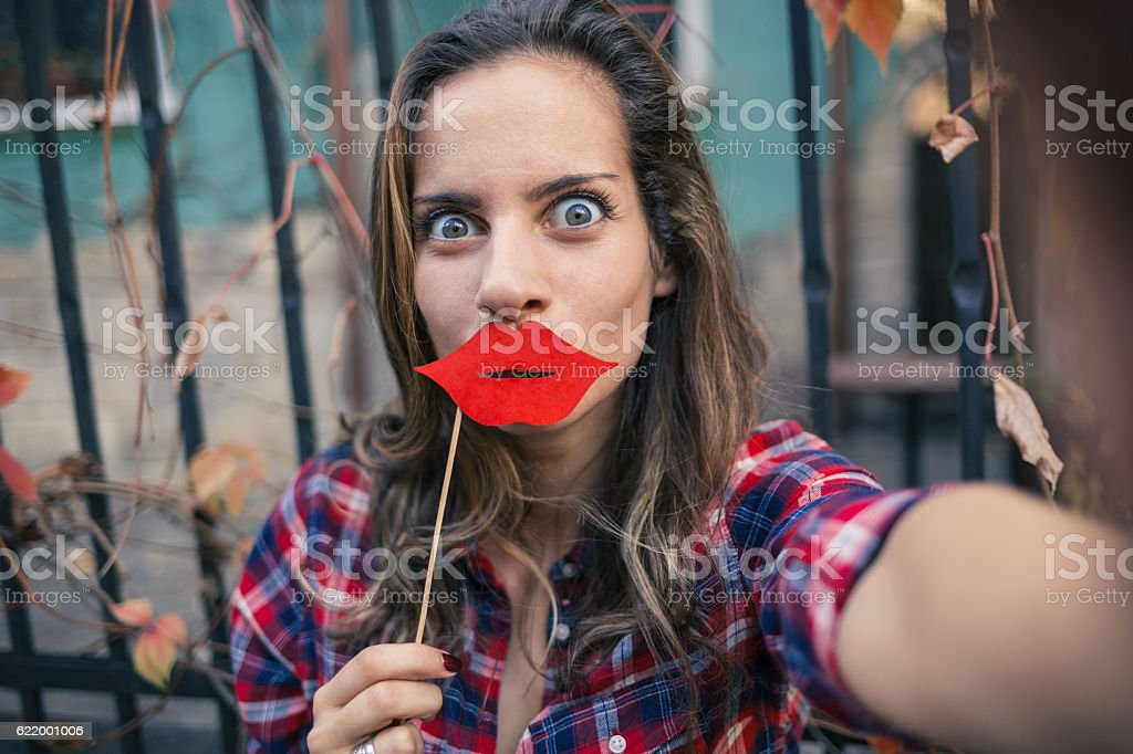 Selfie time – fun time stock photo
