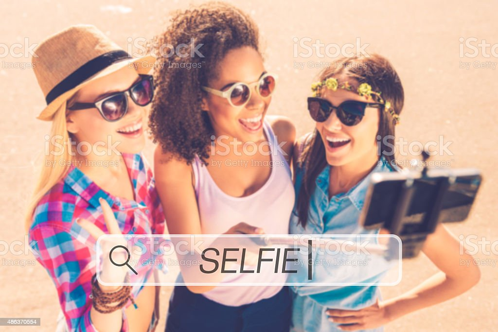 Selfie time! stock photo