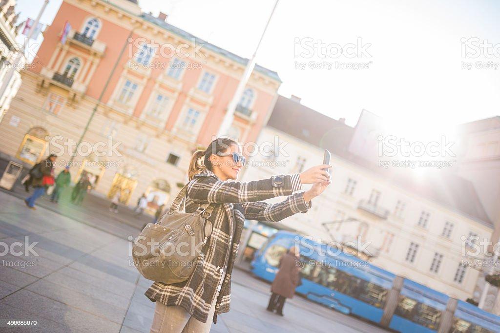 Selfie time stock photo