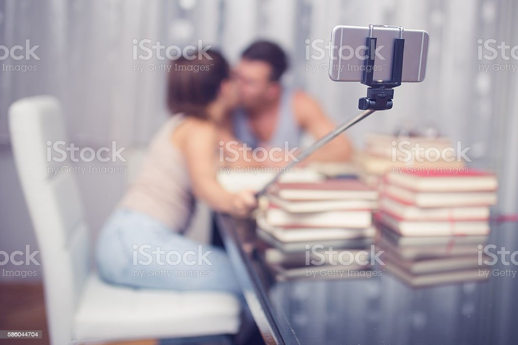 Selfie time stock photo