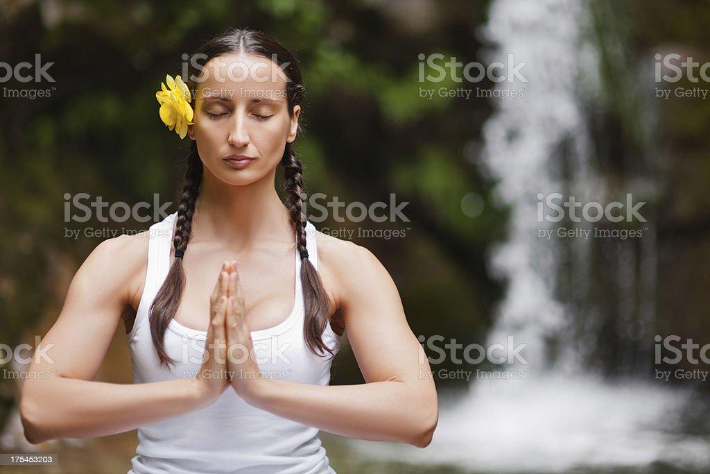 Self-Inquiry Meditation royalty-free stock photo