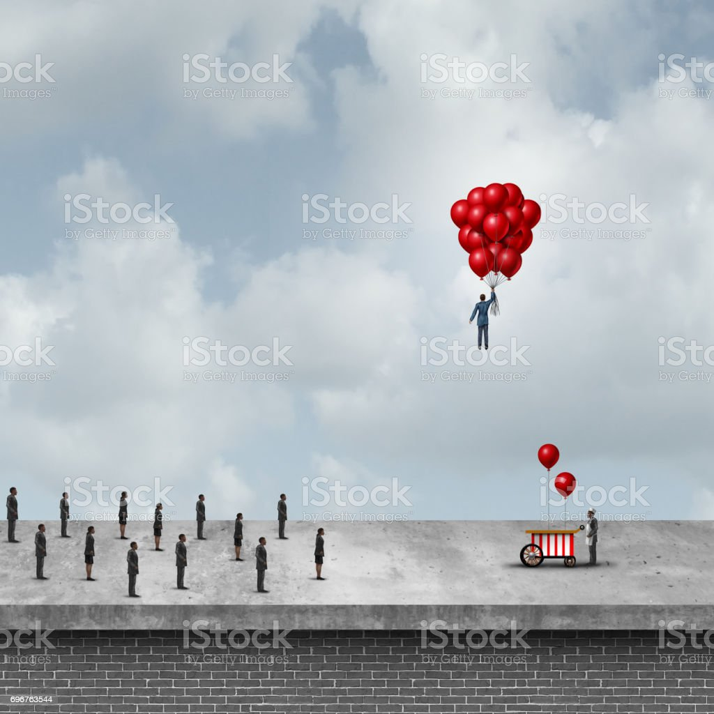 Selfish Business Concept stock photo