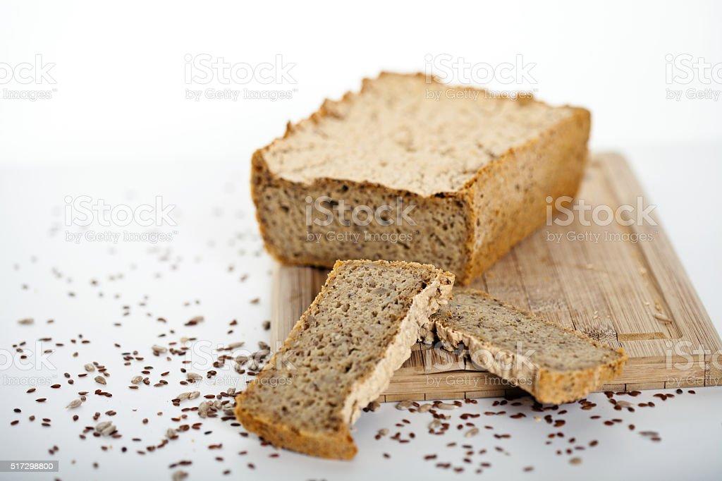 selfmade bread stock photo