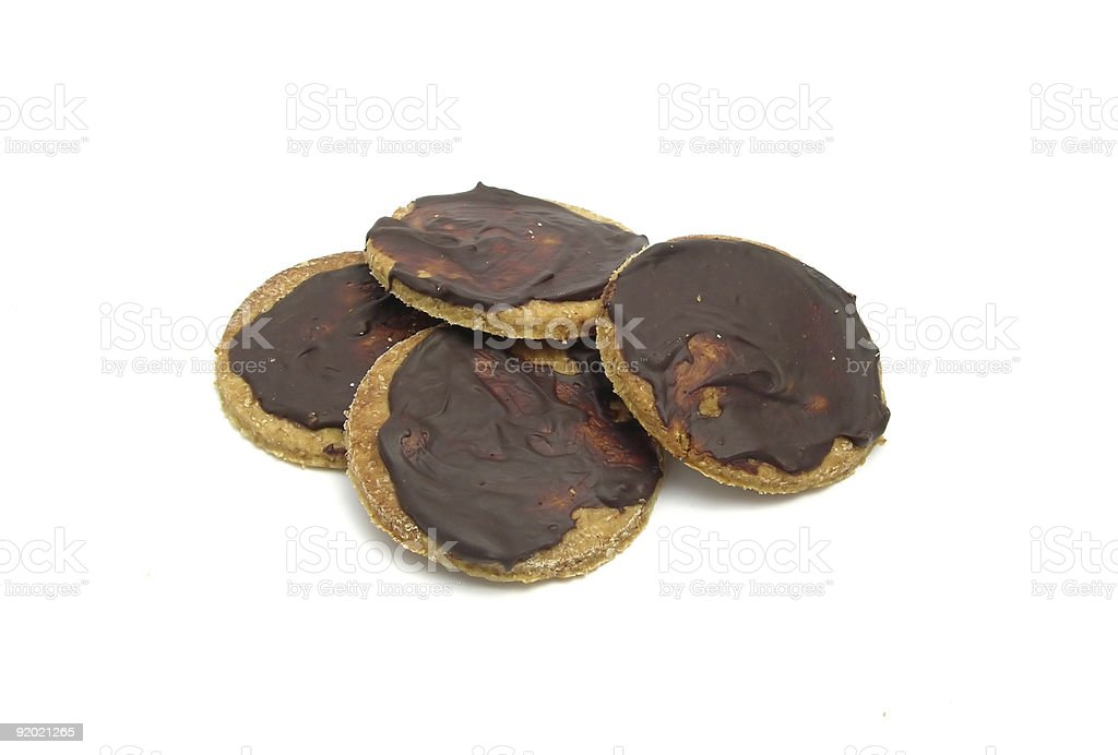 Selfmade chocolate cookies royalty-free stock photo