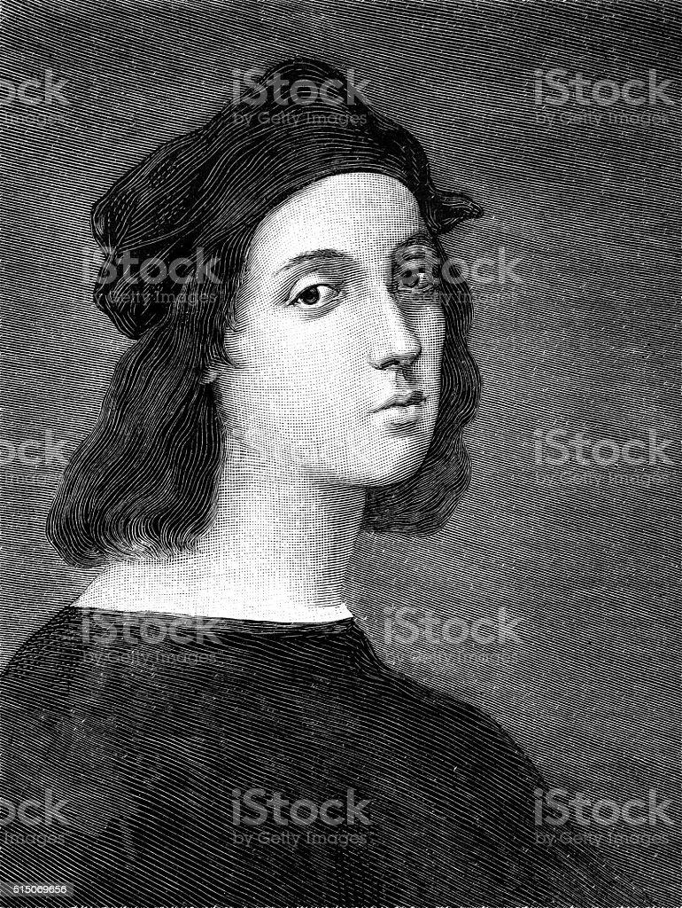 Self-portrait by Raphael stock photo