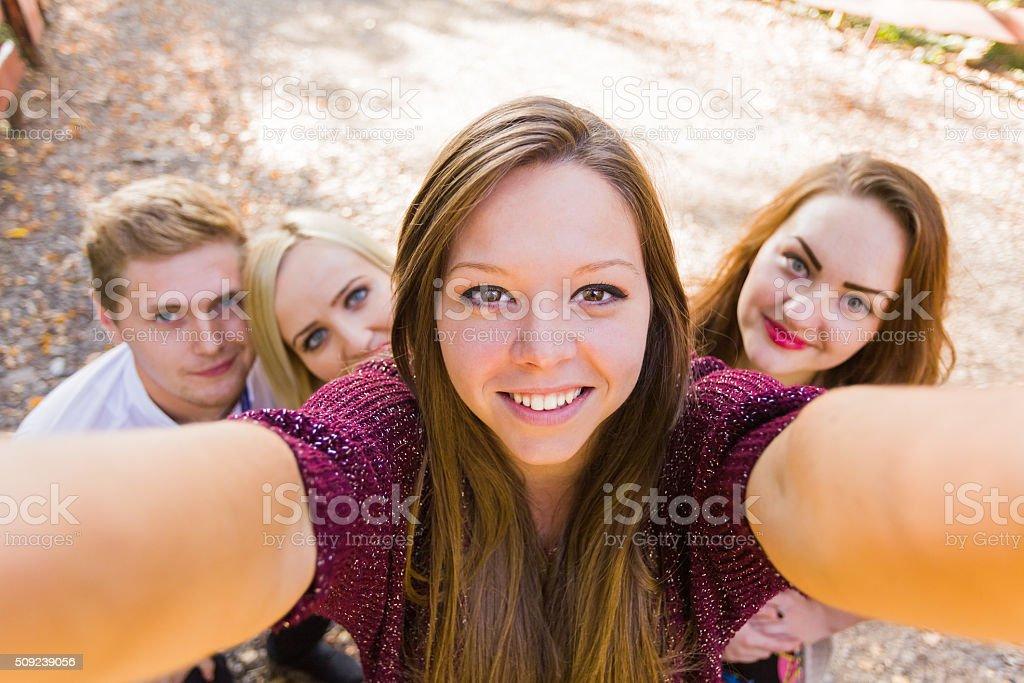 Selfportrait photobomb stock photo