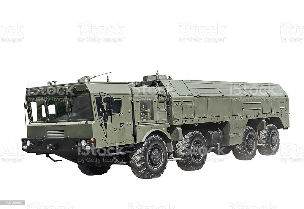 Self-propelled launcher operational-tactical missile complex stock photo