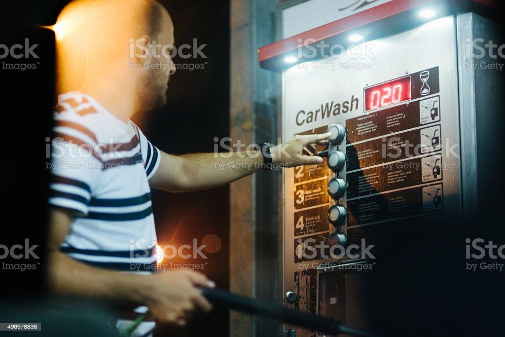 Self-service Car Wash stock photo