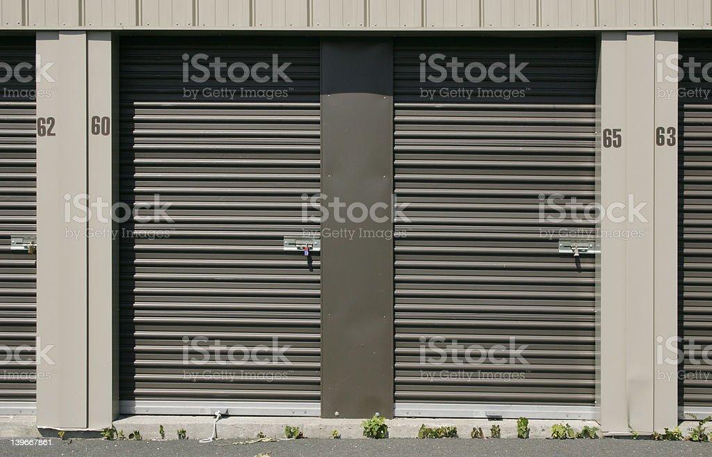 Self-Storage Units - Locks and Doors royalty-free stock photo
