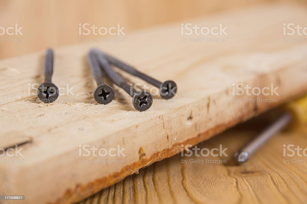 Self-tapping screw royalty-free stock photo