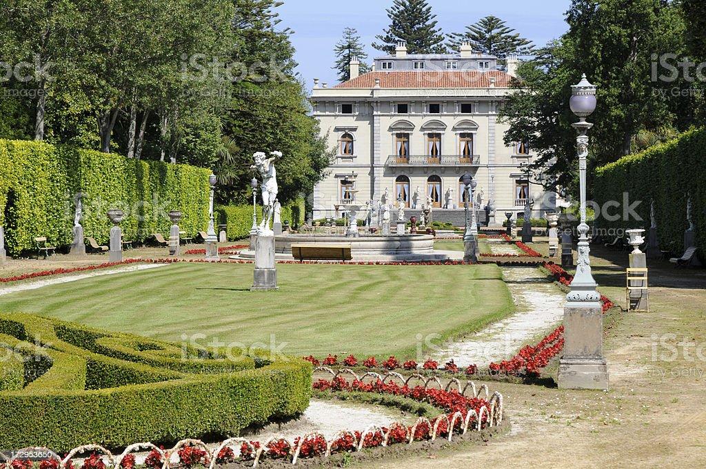 Selgas Palace, Asturias stock photo
