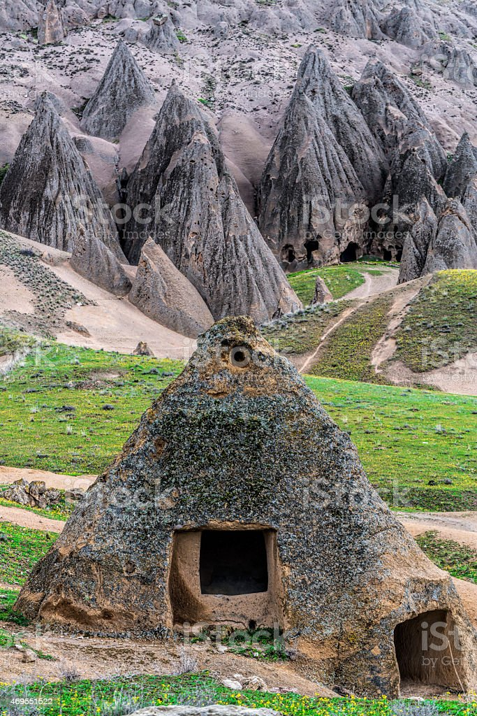 Selime Ancient City stock photo