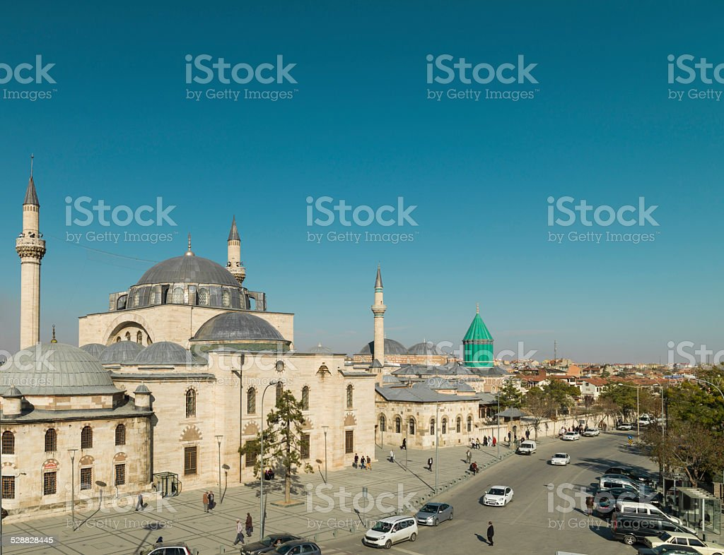 Selimiye Mosque and Mevlana Museum, Konya/Turkey stock photo
