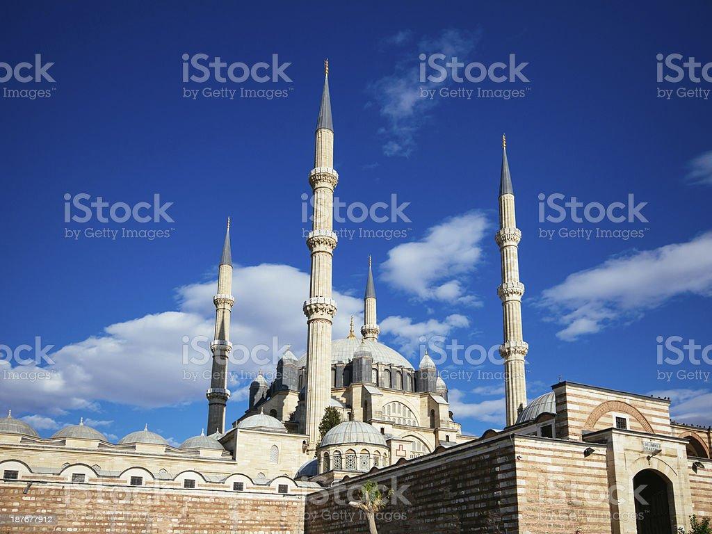 Selimiye Mosque, Edirne, Turkey royalty-free stock photo