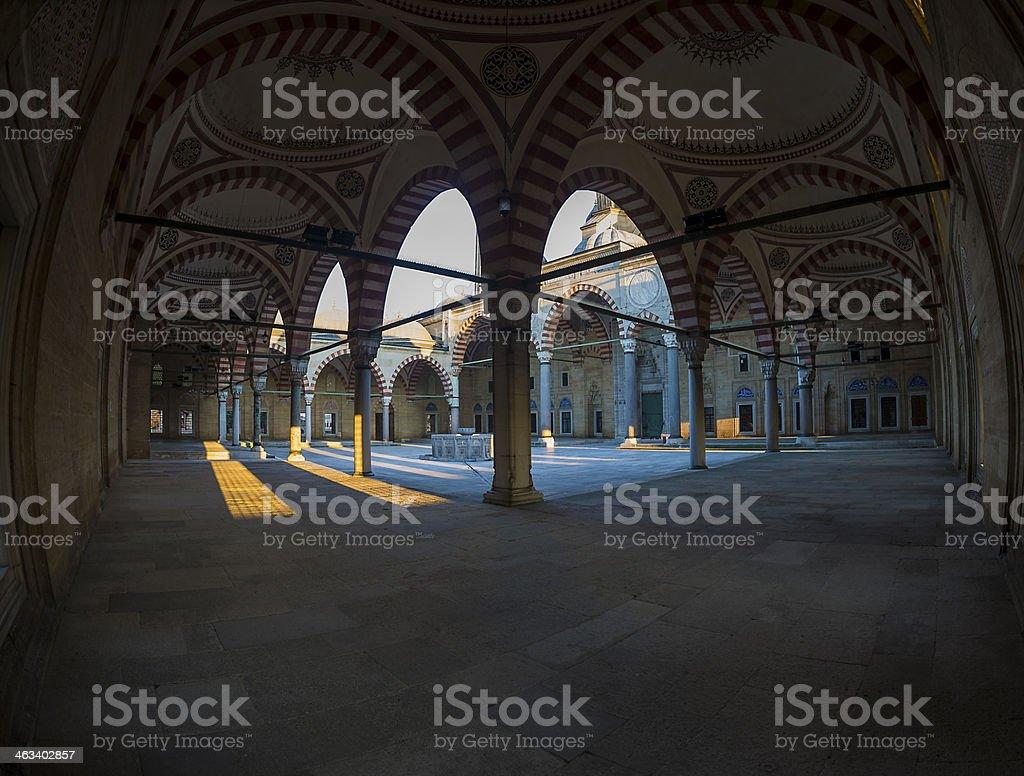 Selimiye Mosque Fisheye stock photo