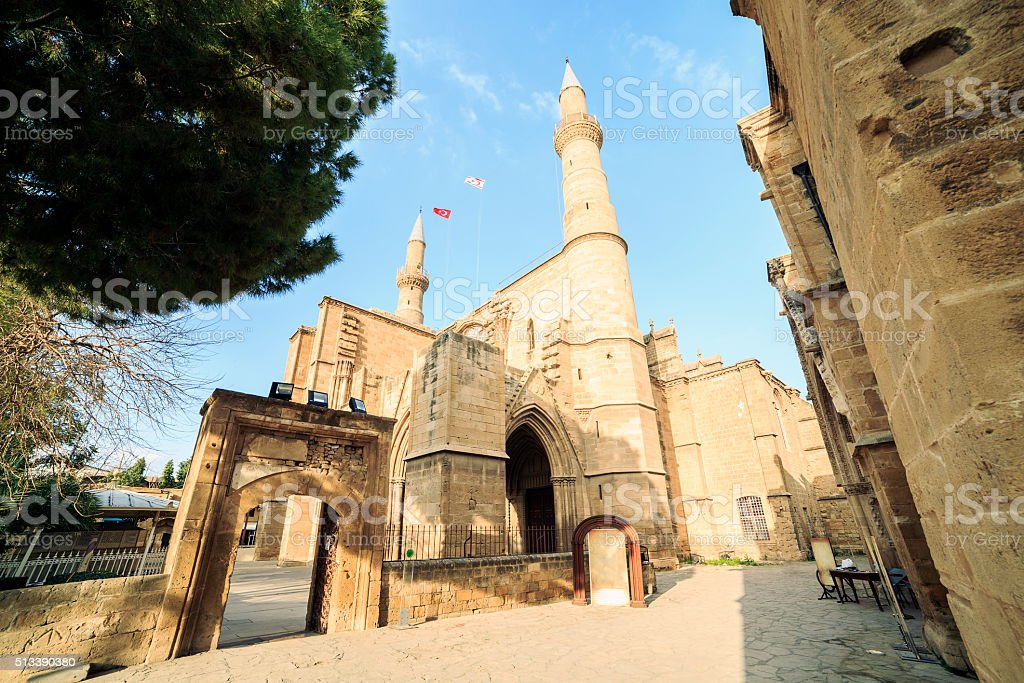 Selimiye Mosque, former Saint Sofia Church, Nicosia, Cyprus stock photo