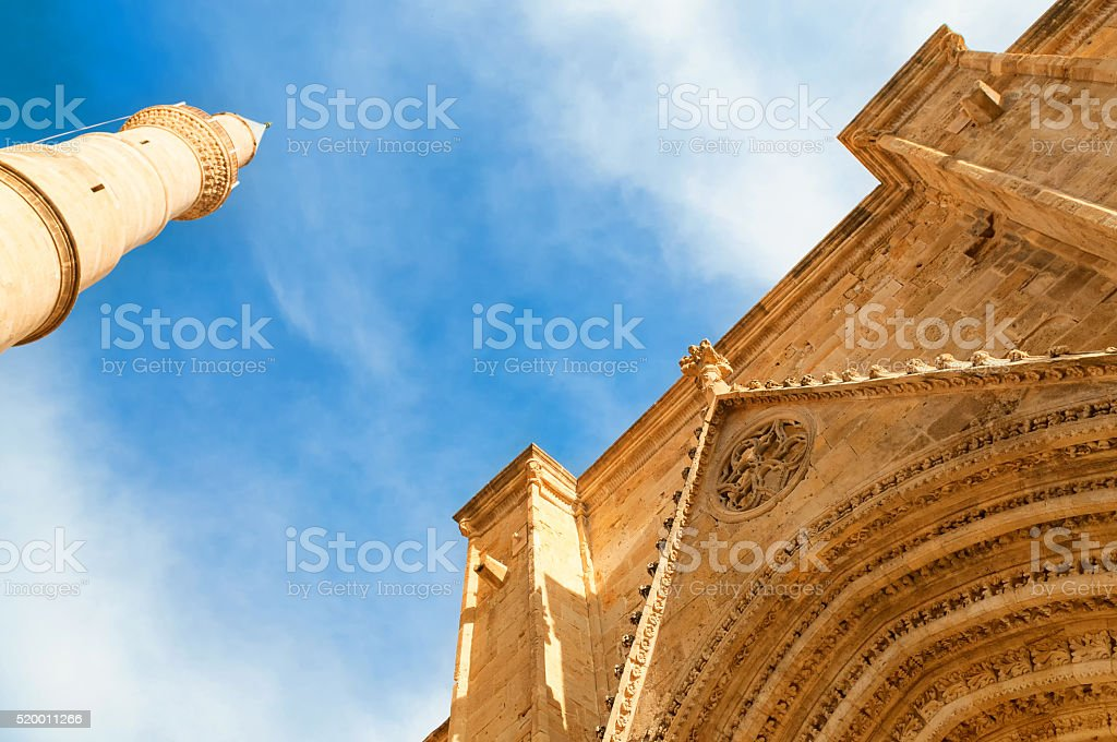 Selimiye Mosque, formerly Cathedral of st. Sophia. Nicosia, Cyprus stock photo