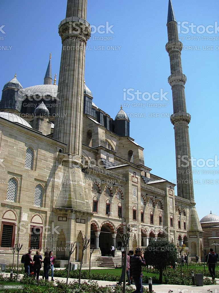 Selimiye Mosque in Edirne Turkey stock photo