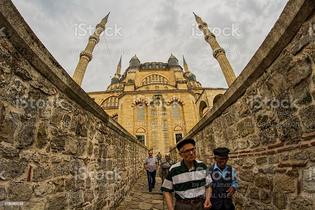 Selimiye Mosque stock photo