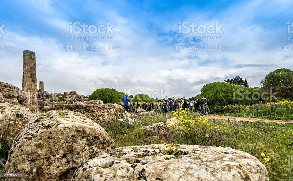 Selinunte School Group stock photo