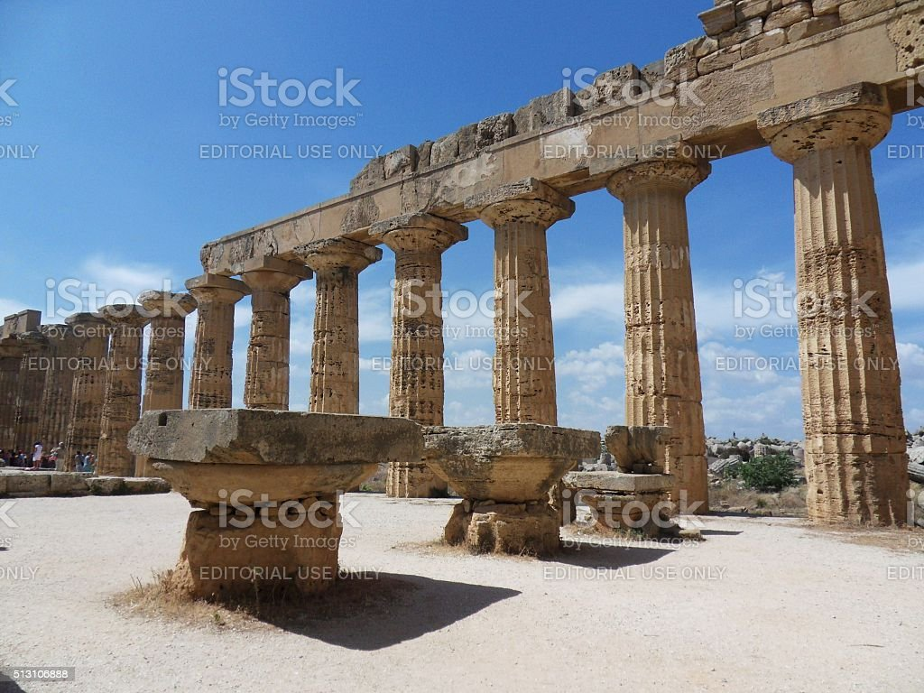 Selinunte -Tempio E stock photo