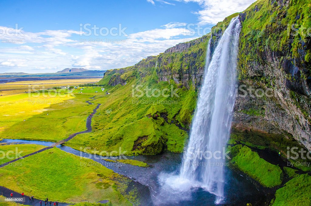 Seljalandsfoss - Iceland stock photo