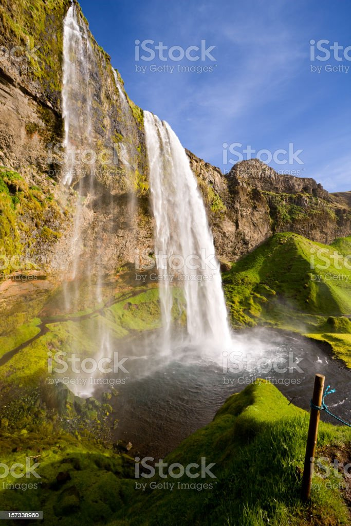 Seljalandsfoss In The Evening royalty-free stock photo