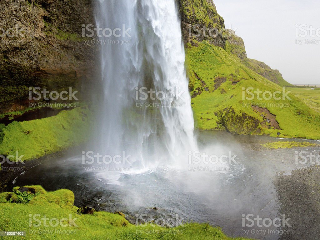 Seljalandsfoss waterfall, Iceland royalty-free stock photo