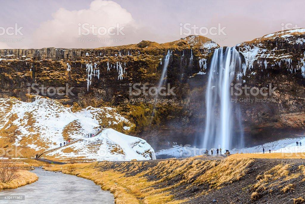 Seljalandsfoss waterfall, Iceland stock photo