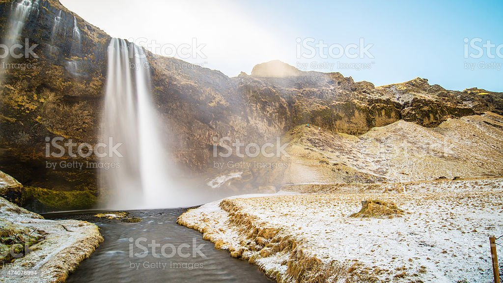Seljalandsfoss Waterfall, Iceland stock photo