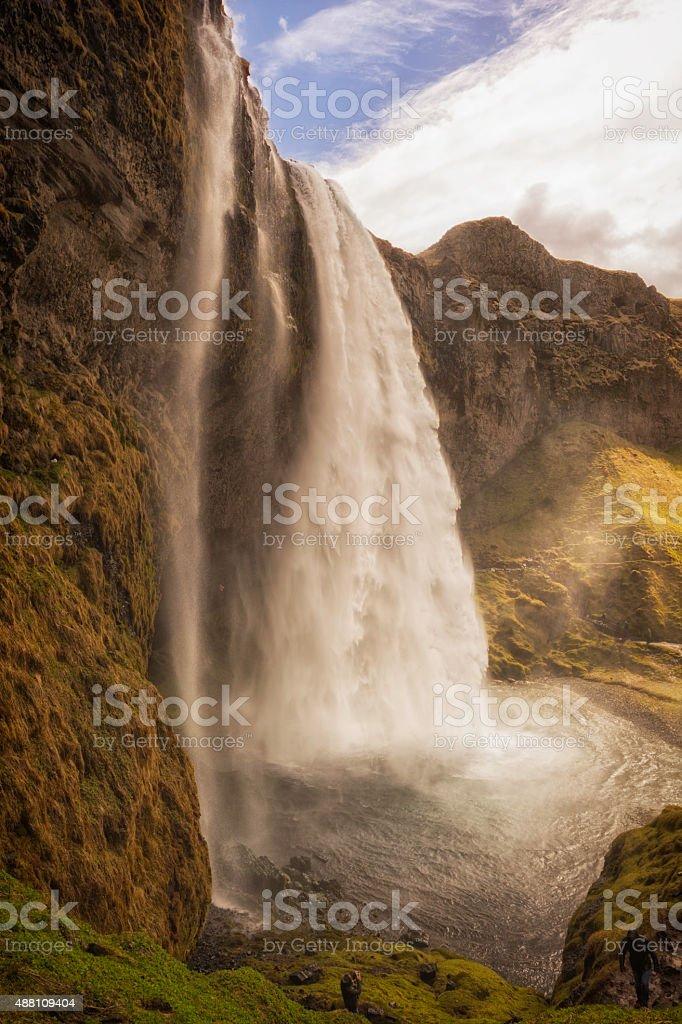 Seljalandsfoss Waterfall Iceland stock photo