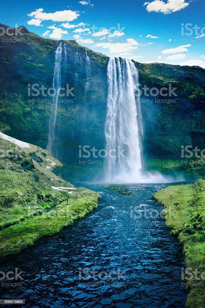 Seljalandsfoss Waterfall - Iceland stock photo
