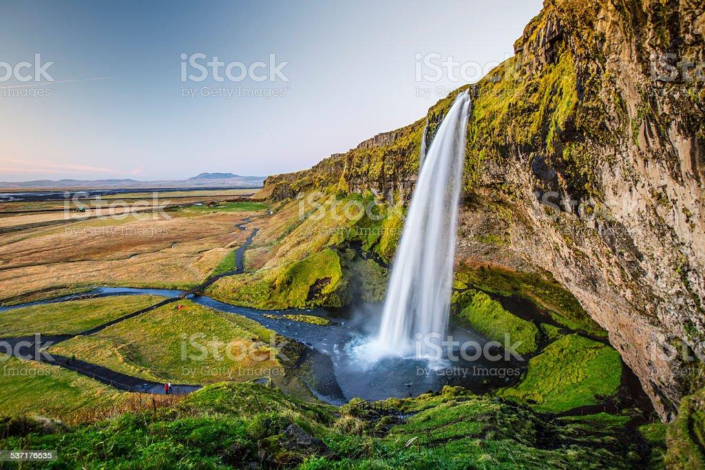 Seljalandsfoss Waterfall , Iceland stock photo