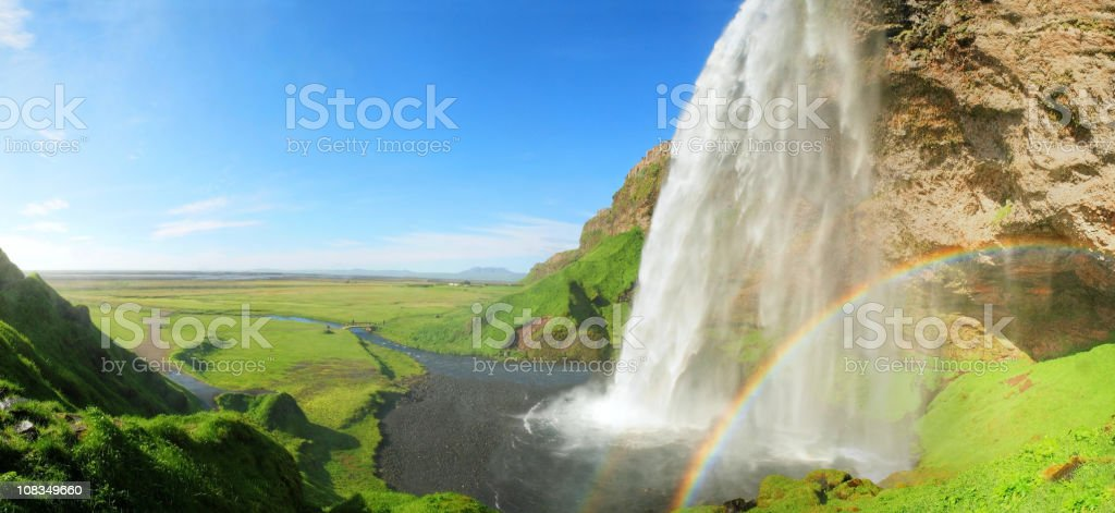 Seljalandsfoss waterfall in Iceland. royalty-free stock photo