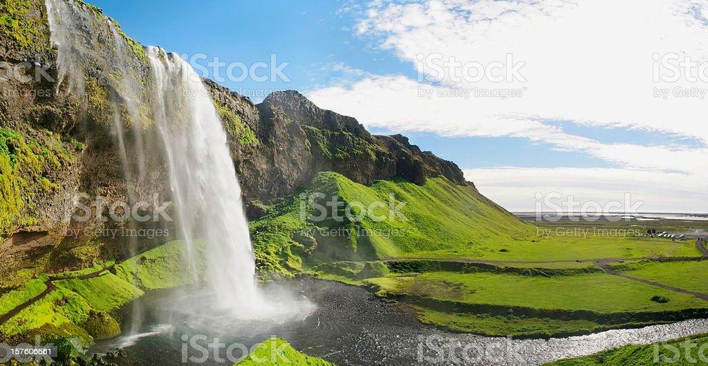 Seljalandsfoss waterfall stock photo