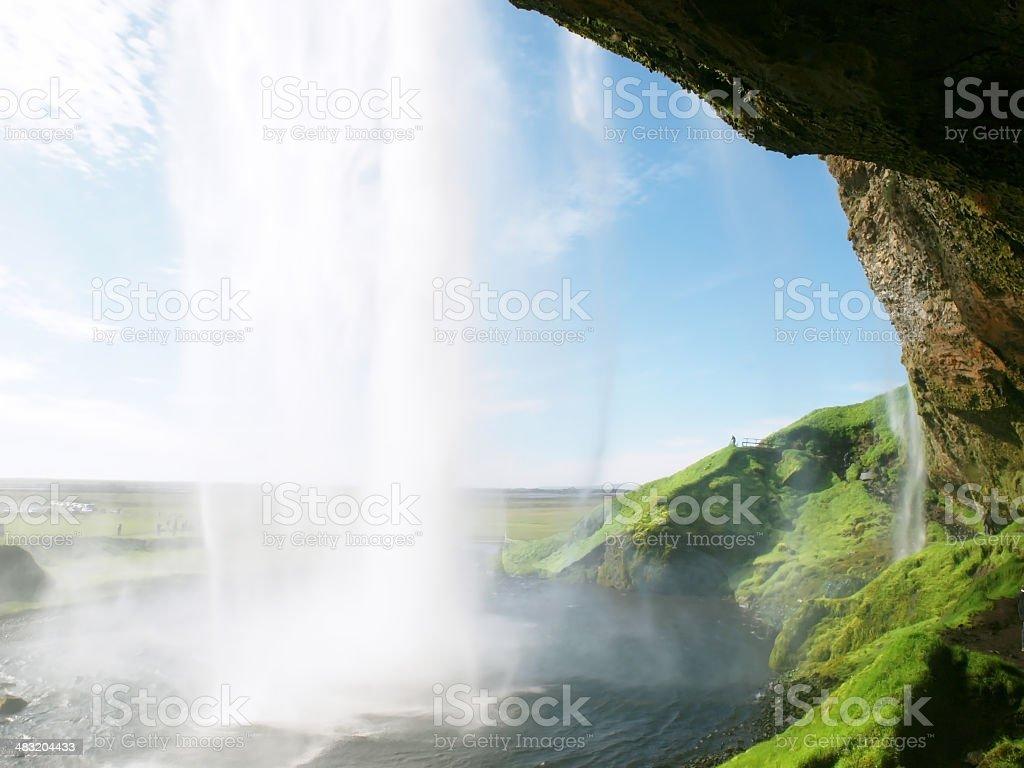 Seljalandsfoss waterfall royalty-free stock photo
