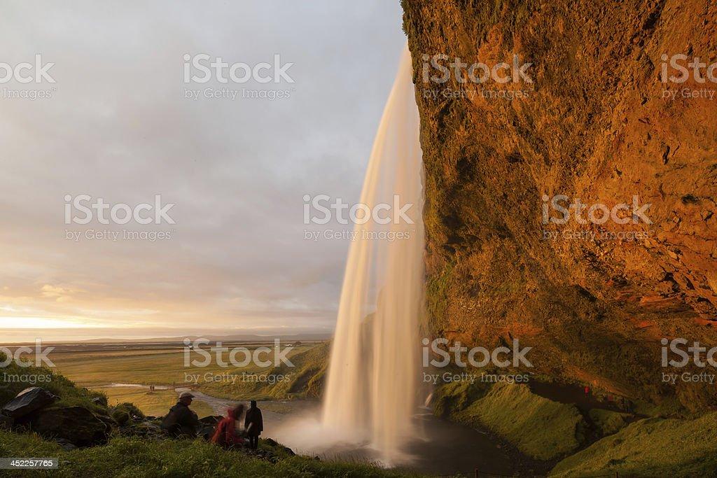 Seljalandsfoss waterfalls stock photo