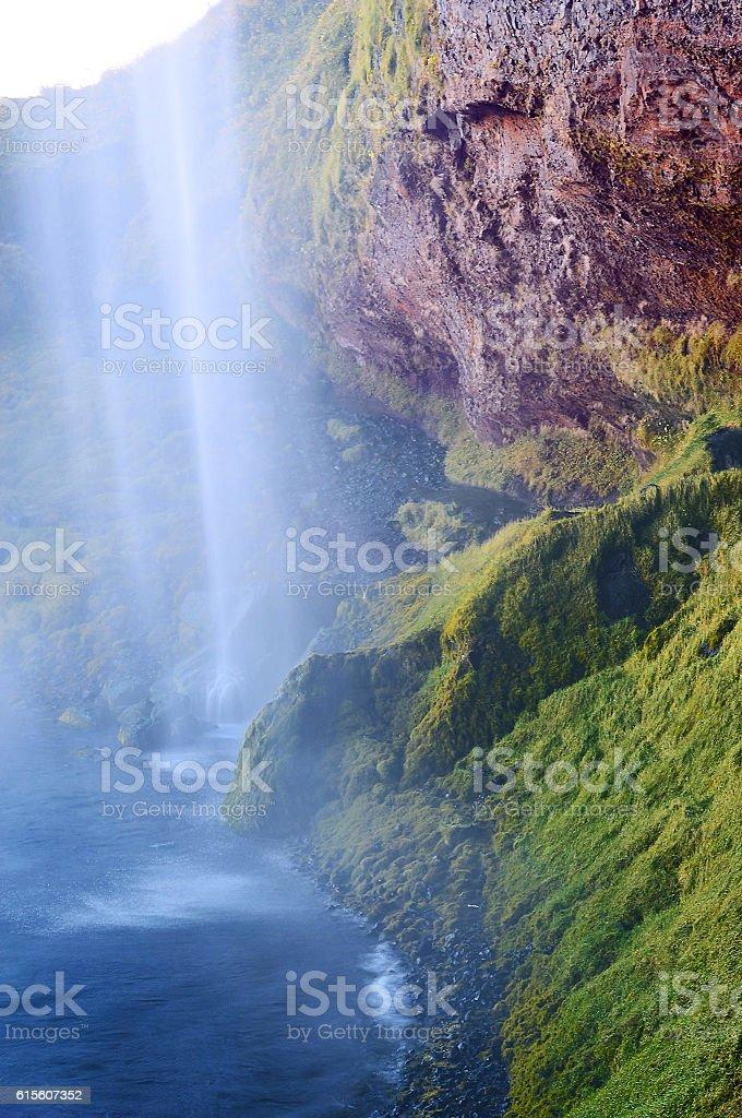 Seljalandsfoss,waterfalls on the Iceland stock photo