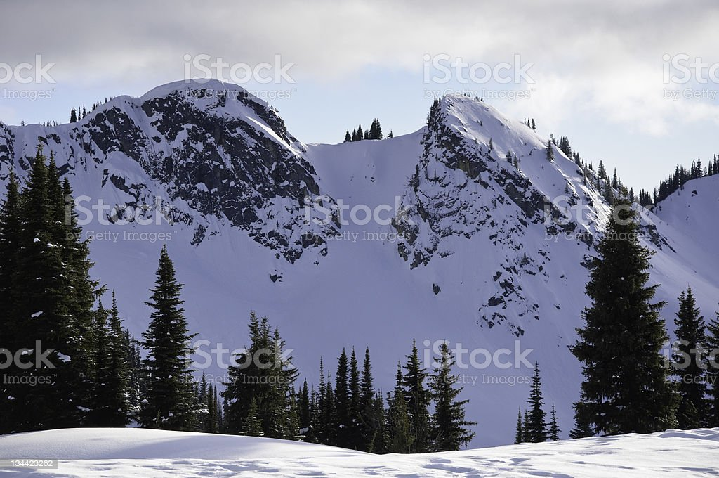 Selkirk Mountains Canada stock photo